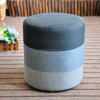 Wholesale home furniture velvet sitting pouf ottoman / fabric upholstery foot rest stool
