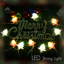 Battery powered custom led hanging lights christmas tree decoration string