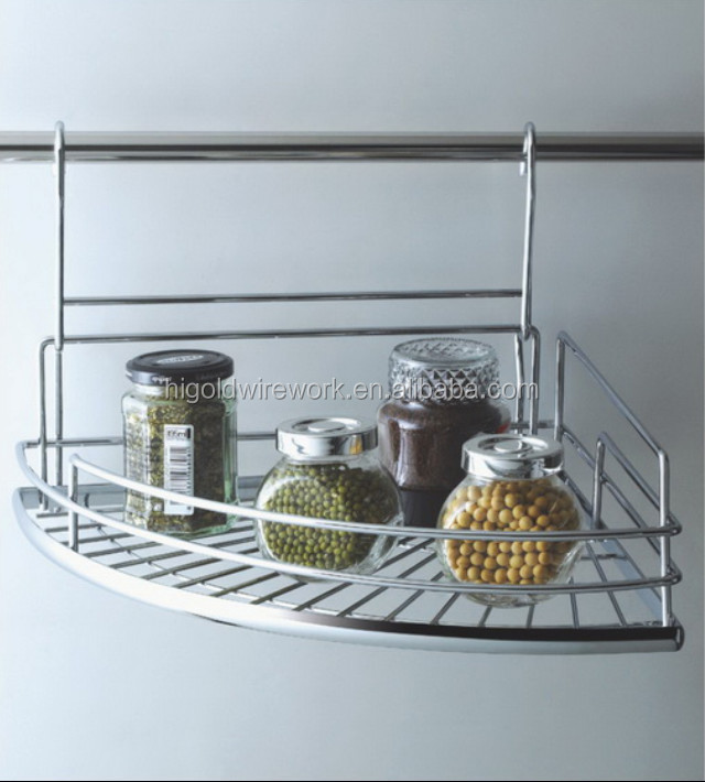 wall mounted metal spice rack