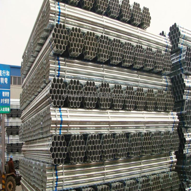 Hot dipped galvanized steel water pipe Diameter1-15 inch seam or seamless pipe