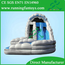 PVC material wave curved inflatable water slide for party amusement park