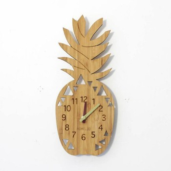 bamboo fruit shape wall clock
