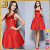 China supplier sleeveless new women beaded party dress design