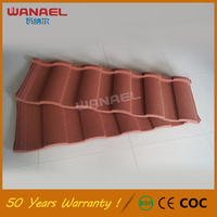 Corrugated sheets for roofing materials Wanael 50-years warranty Roma Roof Tile Stone Coated Metal