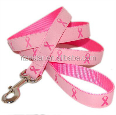 Pink color two-layer dog leash by china supplier