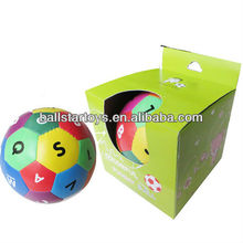 Wholesale Custom PU leather soccer soft stuffed letter eductional toys ball for baby