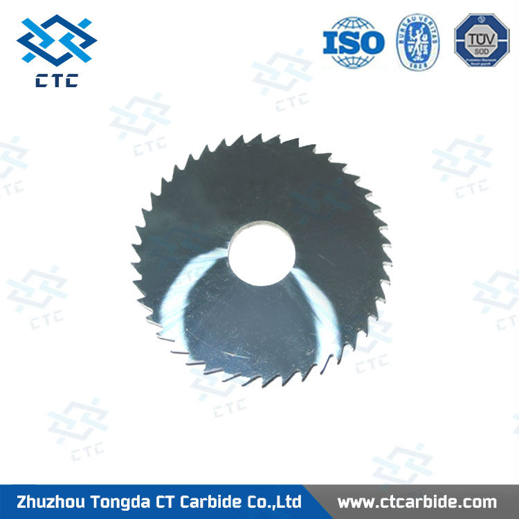 Multifunctional tungsten carbide shear blade for cutting metal materials
