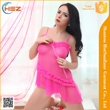 HSZ-8070# customization brand name lingerie pretty babydoll lingerie bed night wear women sexy lingerie