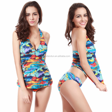 Wholesaler Allover Print Push Up Bandage 2017 Sexy Women Tankini Bathing suit