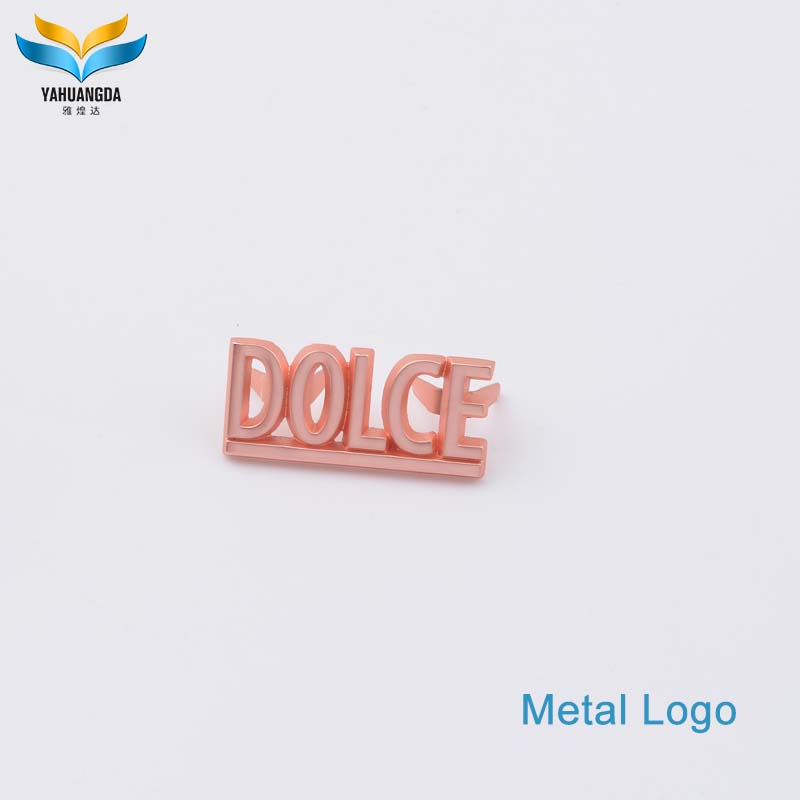 fashion metal bag label tag for leather bag
