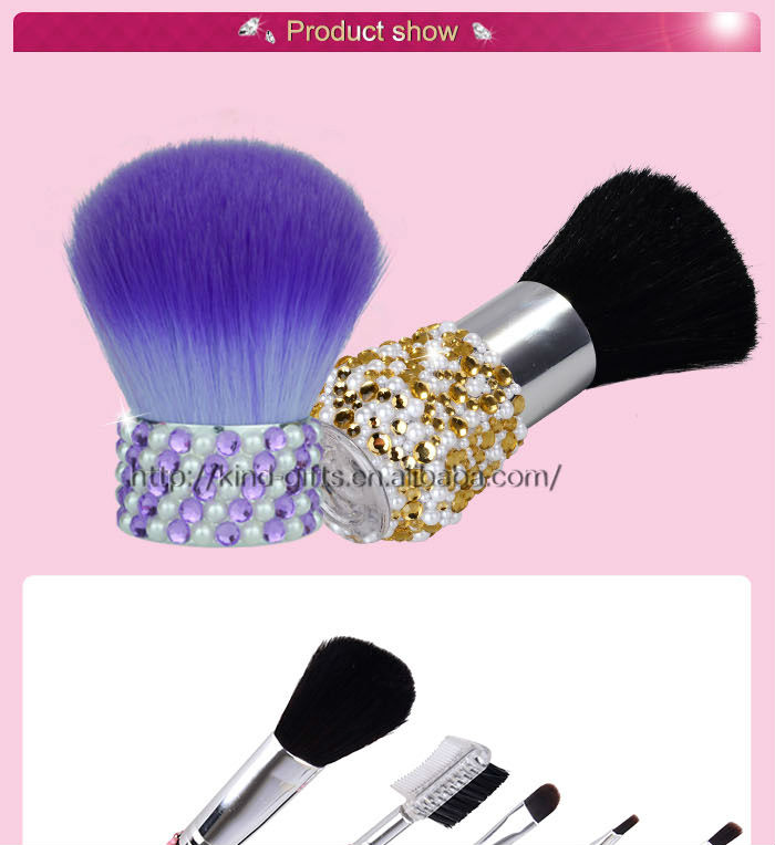 Rhinestone bling bling Makeup Brush set