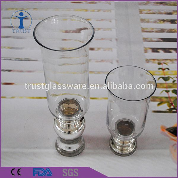 Tall Round Elegant European Customized Magic Vase Clear Glass Candle Holder