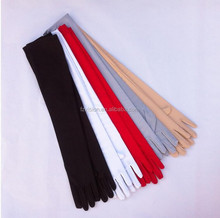55cm size lady spandex elastic black white red long evening gloves for women