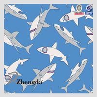 Outdoor Appliance Use Print Shark Fabric