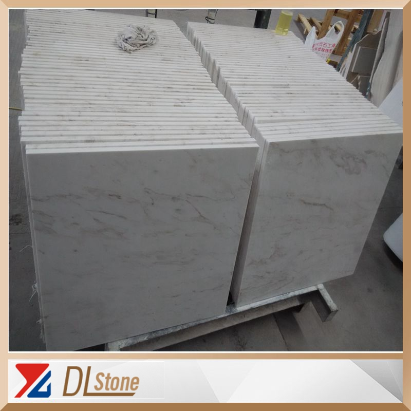 Cheap Polished White Marble With Gold Vein Flooring Tile