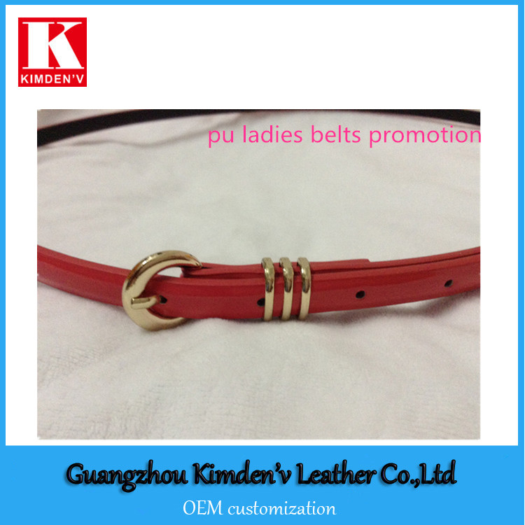 stock pu ladies belts promotion cheap price low order quantity pu belts