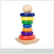 PY1019 2013 Hot Sale Educational Wooden stack toy For Kids
