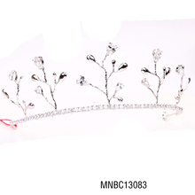 Hot selling fashion bling crystal tree style zircon tiara crown