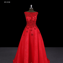 Latest bridal wedding gowns charming red sleeveless ball gown wedding dress heart-shaped hot rhinestone wedding dress for brida