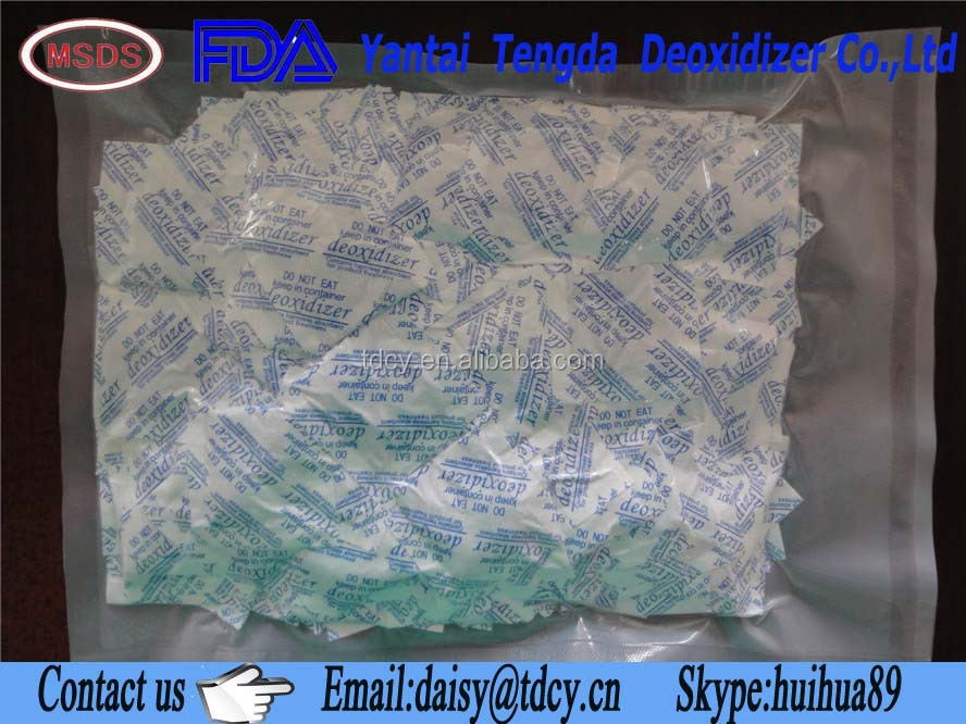 food grade oxygen scavenger/absorbent food pad