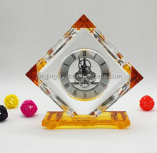 crystal table clock for souvenir gifts