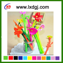 2016 china importer silicone colorful flower pen