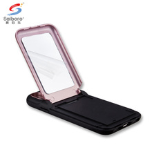 Wholesale shockproof mirror phone case for iphone 6 with card slot