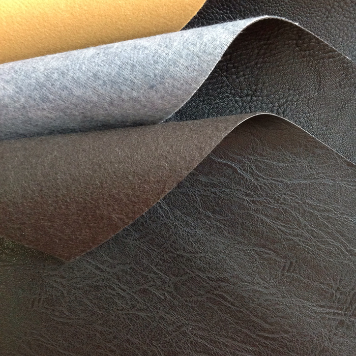 Matt surface black pvc printed leather fabric for furniture