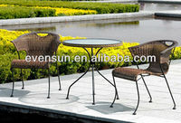 3pcs bistro cane dining furniture