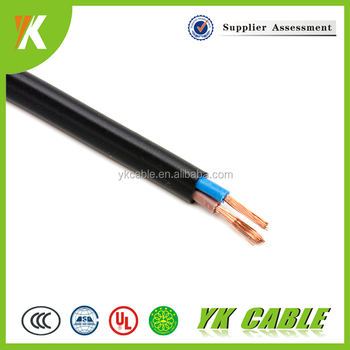 PVC insulated flexible 2 core 1.5mm2 10mm2 16mm2 electrical wires