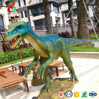 high simulation dinosaur life size 3M animatronic raptor