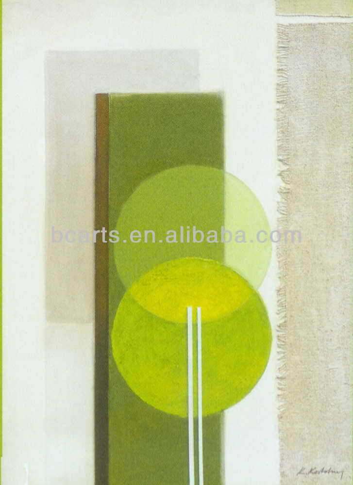 Hot sale High quality simple style green abstract oil Painting on canvas from Shenzhen Dafen