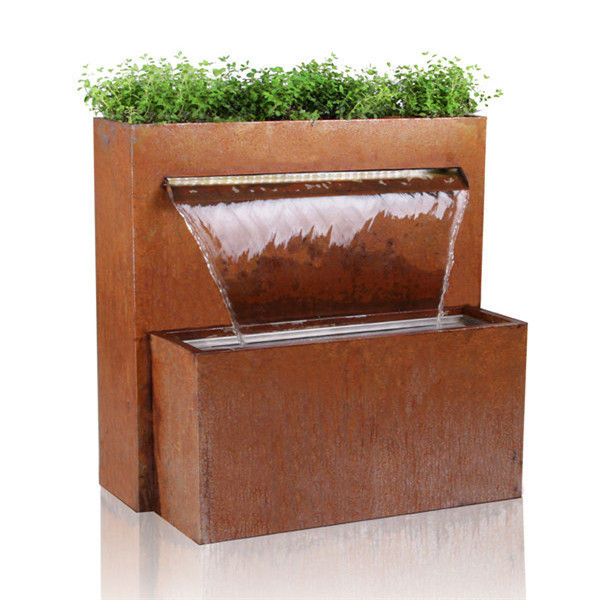 Decorative Corten Steel Wall Hanging Waterfall Fountains