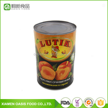 Wholesale Fresh canned yellow peach 820g