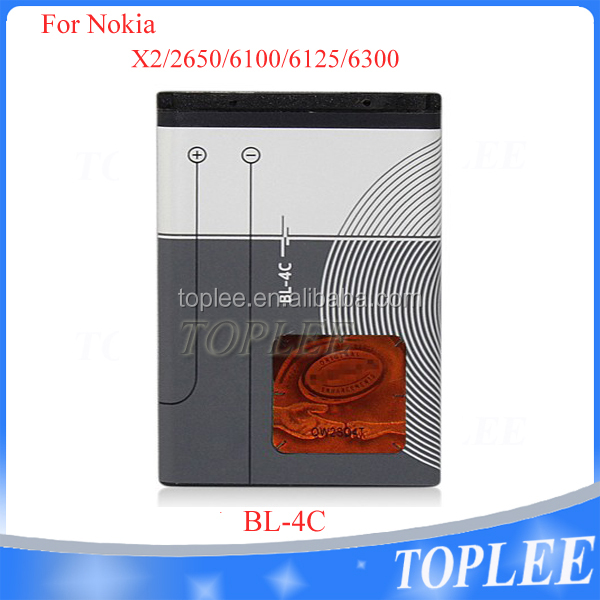 High quality Mobile phone emergency Battery bl-4c for Nokia 6300 6136 6102i 6170 6260