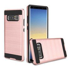 Credit Card Slots Holder Hard Plastic PC TPU Soft Hybrid Shockproof Heavy Duty Protective Cover Case For Samsung Note 8