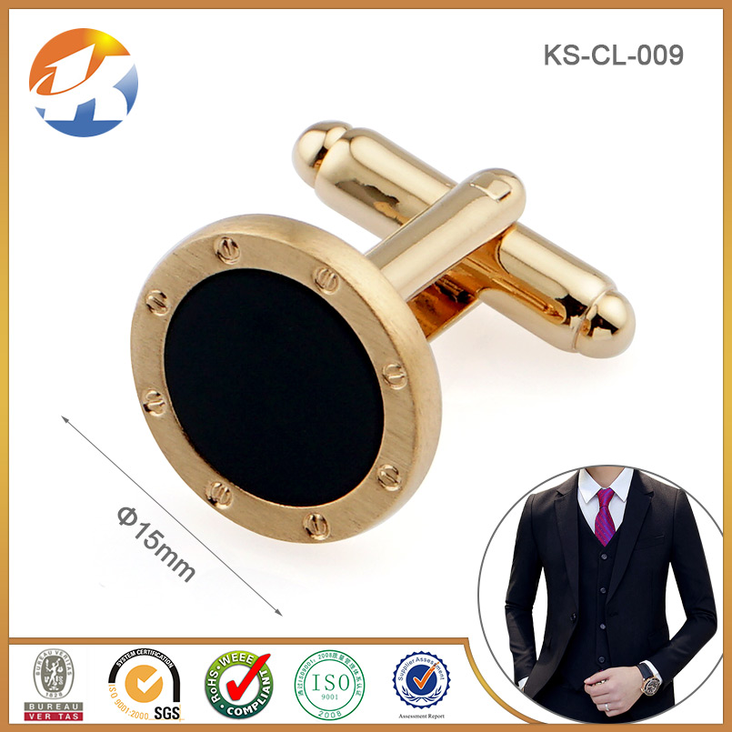 18K Gold Plating Fashion Men Tuxedo Cufflinks and Studs