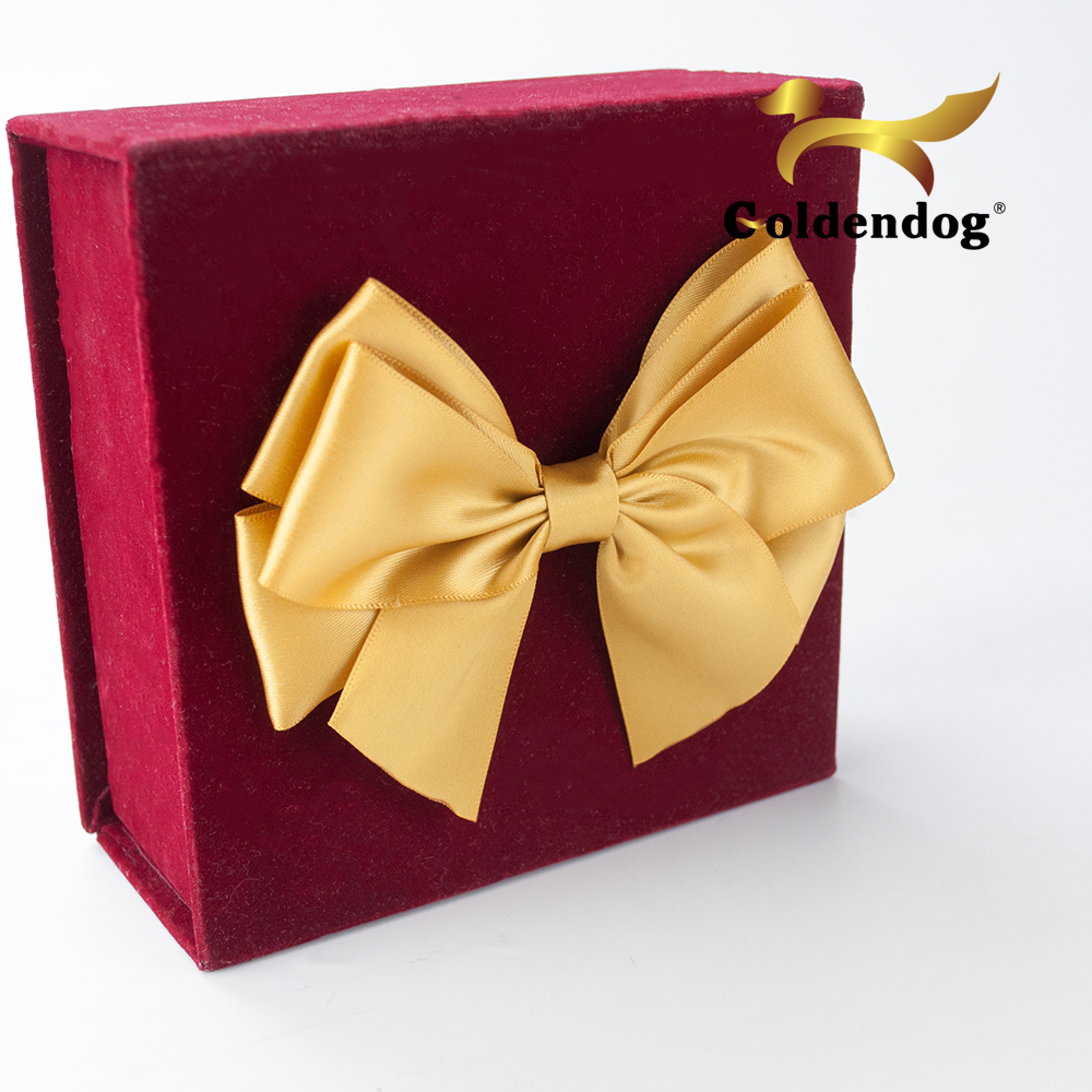 Wholesale ribbon make a bow gift packing pre-tied self adhesive satin bow