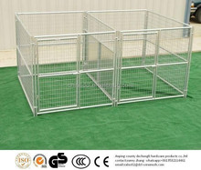 galvanized dog run/double dog kennel
