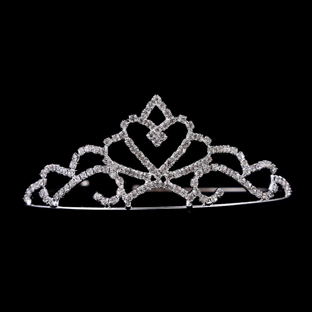 Little Miss Rhinestones Hair Band Bridal Pageant Crown Tiara