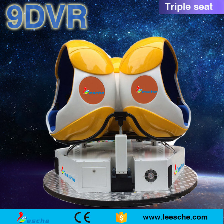 360 electric platform 2/3 seats 9d vr egg cinema 9d cinema platform vr 9d cinema stimulator from Guangzhou for sell