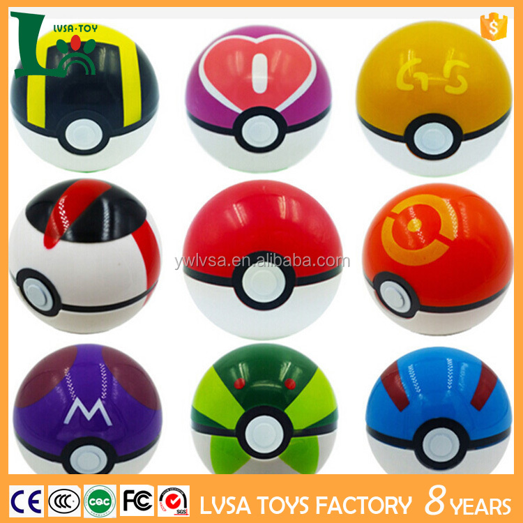 9PCS Pokemon Pikachu Pokeball Cosplay Pop-up Master Great Ultra GS pokeball toy for christmas gift