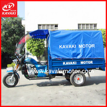 Sky color 3 rims motos windshield cab 4-stroke 200cc engine flatbed tricycle with van