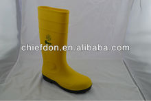 2013 PVC boots UK with yellow