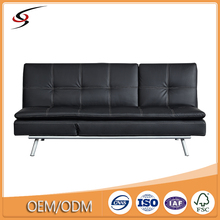 Dongguan furniture factory Price of sofa cum bed designs leather folding bed sofa