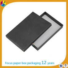 handmade black cardboard gift packaging a4 size paper box