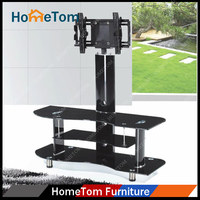Black Tempered Glass Metal TV Stand Hot Sale Modern TV Table