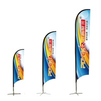 Outdoor Flying Wind Resistant Printing Advertising Beach Flag