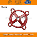 Costom aluminium cast hand wheel in red paint