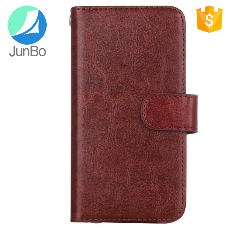 Newest popular items wallet style leather case for samsung S8 card slots mobile phone case